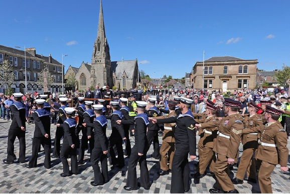 Military Parade in Colquhoun Square 2016